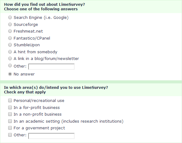 Survey Plugins LimeSurvey Demo