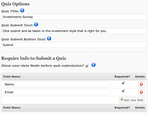 Survey Plugins Simple Survey Settings